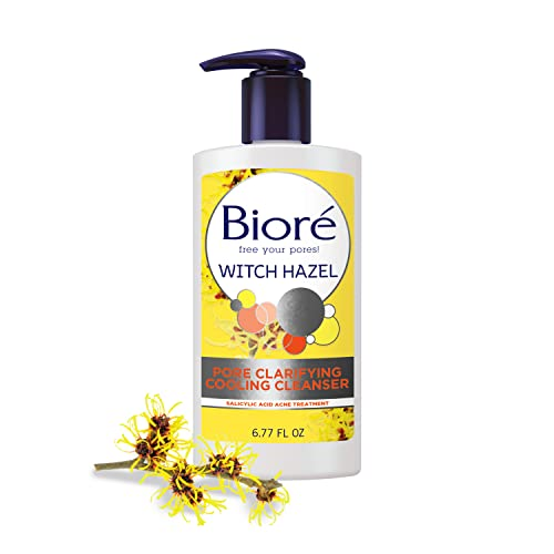 Bioré Witch Hazel Pore Clarifying Acne Face Wash, Exfoliating Facial Cleanser, 2% Salicylic Acid Acne Treatment for Acne Prone, Oily Skin, 6.77 Ounce - HSA/FSA Approved