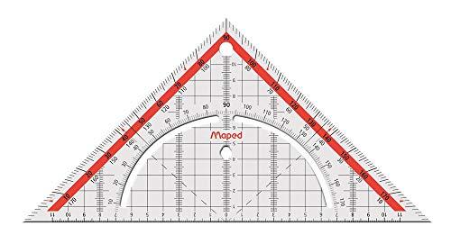 Maped M028700 Geometriedreieck mit Griff, 1 Stück, 26 cm