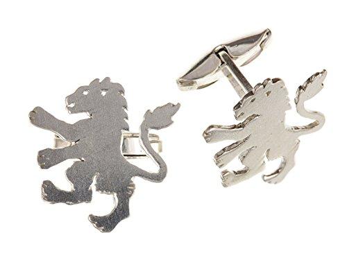 Angleterre/anglais/British Lions Boutons de manchette – Argent Sterling 925 – Livré dans une boîte cadeau gratuit ou sac cadeau