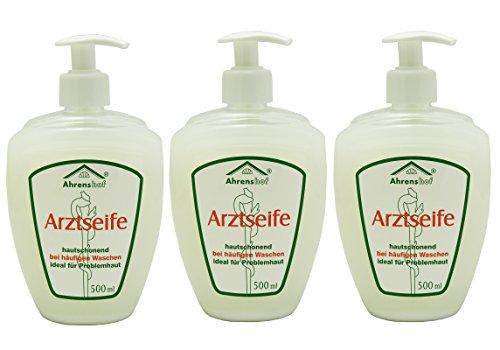 3x 500ml Ahrenshof Arztseife Hygiene Handseife Seife flüssig für Problemhaut