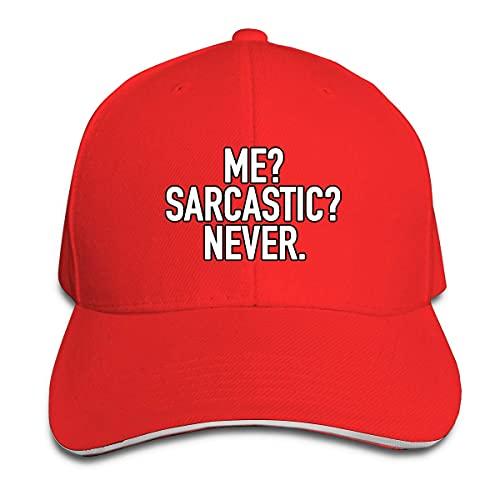 XCNGG Me Sarcastic Never Unisex Cap Magic Ajustable Hebilla Sandwich Sombreros Deportes al Aire Libre