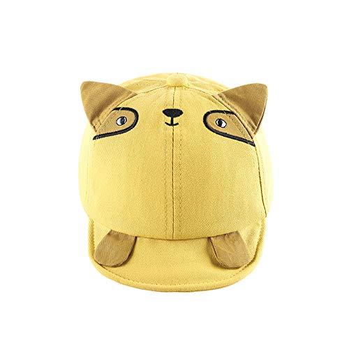 Sombrero para niños algodón de Primavera Coreano Lindo Gato de Dibujos Animados de ala Suave Sombrero de bebé sombrilla Gorra para niños