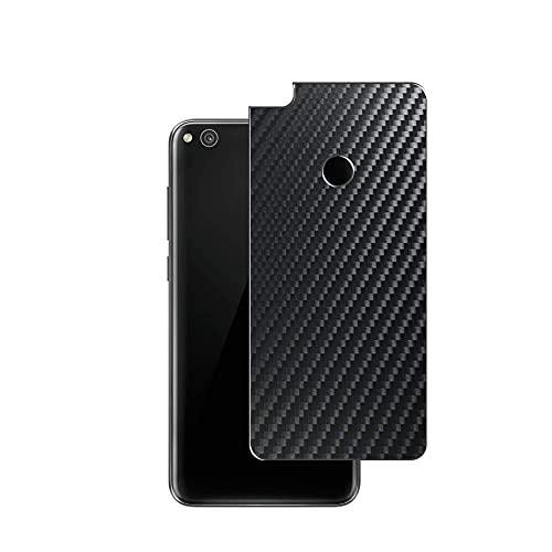 Vaxson 2 Unidades Protector de pantalla Posterior, compatible con HUAWEI P8 Lite 2017/P9 Lite 2017/NOVA LITE/Honor 8 lite, Película Protectora Espalda Skin Cover - Fibra de Carbono Negro