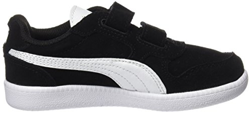 Puma Unisex-Kinder Icra Trainer SD V PS Sneaker, Schwarz Black-White - 7