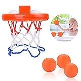 XNX Cerceaux de Basket-Ball de Jouets de Bain pour Enfants et Tout-Petits avec 3 balles, Jeu de tir de Baignoire pour Petits...