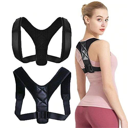 ZGHYBD BUILDPOSTURE Posture Corrective Therapy Back Brace for Men & Women,Posture Corrector Spinal Support - Physical Therapy Posture Brace for Men or Women - and Neck Pain Relief M