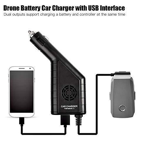 RC-Ladegerät, Drohne Auto Charger Adapter Hub mit USB-Schnittstelle für DJI Mavic 2