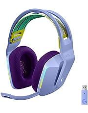 Logitech G733 LIGHTSPEED Wireless Gaming Headset met verende hoofdband, LIGHTSYNC RGB, Blue VO!CE-microfoontechnologie en PRO-G-audiodrivers - LILAC