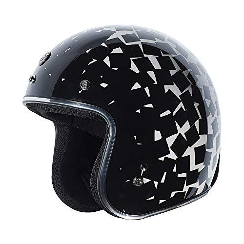 Torc Spec-Op T55 Solid Black 1//2 Motorcycle Scooter Helmet XX Large