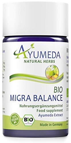 Ayumeda Bio Migra Balance | Ayurvedische Rezeptur | Perfekt abgestimmte Extrakte | BIO QUALITÄT MADE IN GERMANY, 100% VEGAN