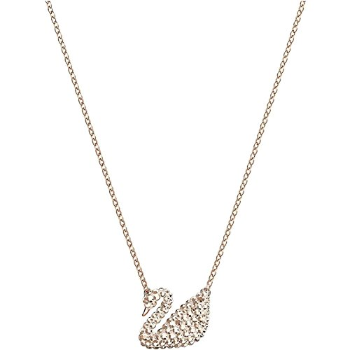 5368988 Collar de cisne icónico tono oro rosa con cristales Swarovski