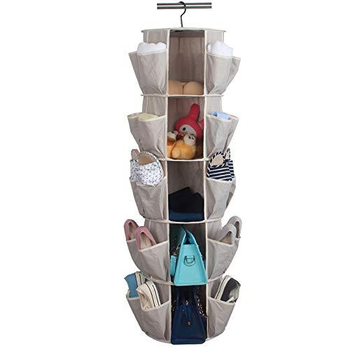 Armario colgante, almacenamiento de larga duración, bolsillos grandes de malla para ropa interior, calcetines, ropa.