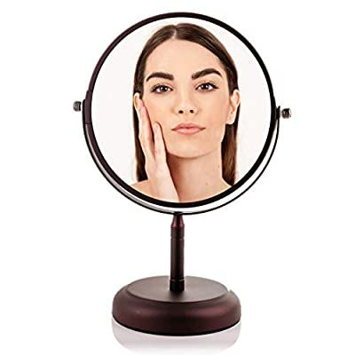 Ovente Round Tabletop Vanity Mirror