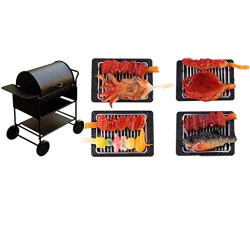 lahomia 1/12 Dollhghouse Miniatures Cocina Comida Barbecue & BBQ Grill -5 Piezas