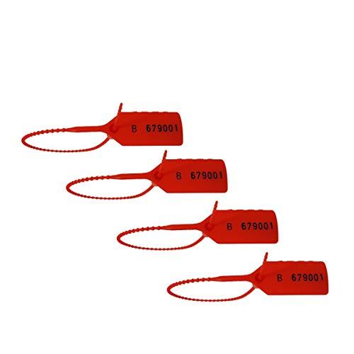 Prodotto nel Regno Unito con chiusura numerata rossa, sigillanti anti manomissione, fascette di sicurezza, etichette di sicurezza, etichette di sicurezza, sigillo manomissione, fascette numerate