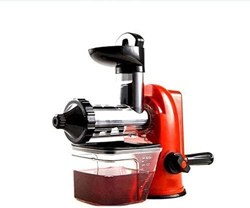 Exprimidor de máquinas exprimidor, exprimidor de masticación lenta, exprimidor frío cepillado para zumos de alto nutrientes y jugos de verduras (color rojo)-rojo
