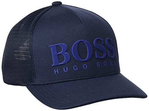 BOSS cap-Grid 10198889 01 Cappellino da Baseball, Navy410, Taglia Unica Uomo