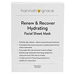 IDEAL FOR minimizing forehead wrinkles and crow's feet. Deeply hydrating, rejuvenating and moisturizing mask for face. Brings on a beautifully glowing radiance! THE DIFFERENCE in your skin after 1 treatment with our ground-breaking Antioxidant Techno...