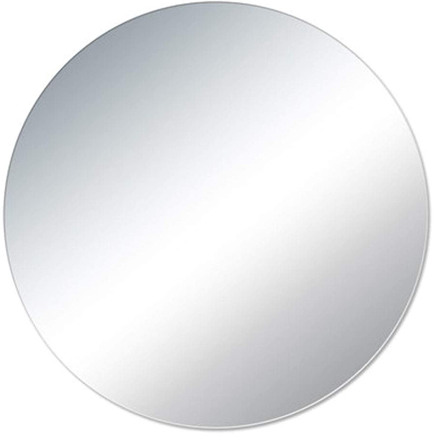 Round Frameless Wall Mirror Explosion-Proof Round Bathroom Mirror Wall Mounted Bathroom Mirror for Living Room, Bedroom