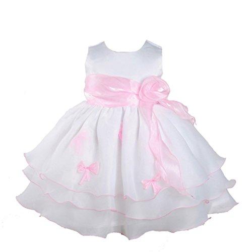 Cinda Mädchen Partykleid Weiß und Rosa 62-68(Fabriknummer 0)