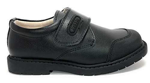 Bubble bobble Zapato COLEGIAL Piel Velcro Puntera Reforzada - Niños Color Negro Talla 31