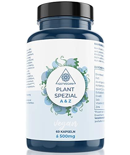 Plant Spezial A-Z Premium Stoffwechseloptimierungs Kapseln 60 Stück mit Flohsamenschalen - Verdauungs Kapseln, Zink, Vitamin B 12, + Bakterienkulturen - 21 Bakterienstämme