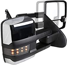 Spec-D Tuning For Chevy Silverado GMC Sierra POWER FOLDING+HEAT Extended Tow Mirrors w/Smoke Lens LED Signal