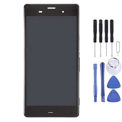 Mobiles Display LCD-Display + Touch Panel mit Rahmen for Sony Xperia Z3 (Dual-SIM-Version) / D6633 / L55U (Schwarz) (Color : Black)