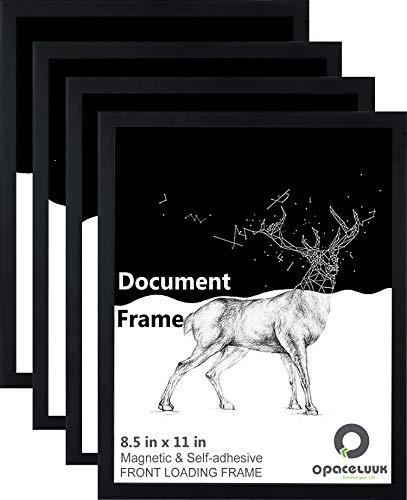 Dokumentenrahmen,4er Pack Selbstklebender Wandhalter Schilderhalter 21x30cm Magnetischer Bilderrahmen für Kühlschrank, Poster, Hochschuldiplom & Zertifikat
