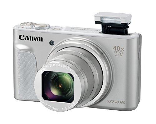 Canon PowerShot SX730 Digital Camera w/40x Optical Zoom & 3 Inch Tilt LCD - Wi-Fi, NFC, Bluetooth Enabled (Silver) (Renewed)