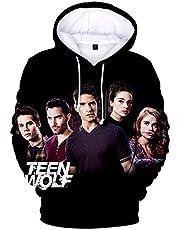 3D Mode Teen Wolf Hoodies Derekhale 3D Print Sweatshirts Tiener Wolf Mannen/Vrouwen Zwart Unisex Tops Filmserie XXL