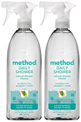 Contains (2) 28 ounce bottles of shower cleaning spray Naturally derived daily shower cleaner. Use daily. No scrubbing required. Non toxic, plant based powergreen technology dissolves and prevents soap scum. Cleaning spray works on showers, tile, fix...