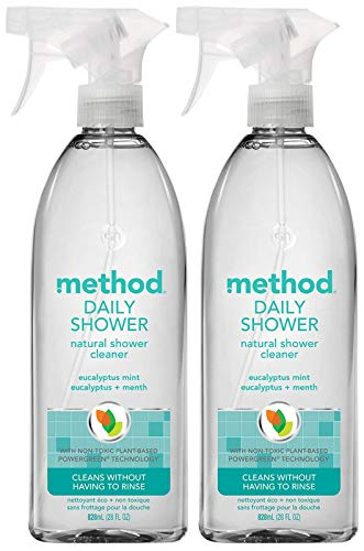 Method Daily Shower Spray - Eucalyptus Mint - 28 Fl Oz (Pack of 2)