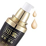 Sunscreen BB Cream with SPF32 Tinted Moisturizers Luquid Foundation Medium Color High Coverage Face Tone for All Skin Types Anti-Aging Makeup CC (02 Natural beige)