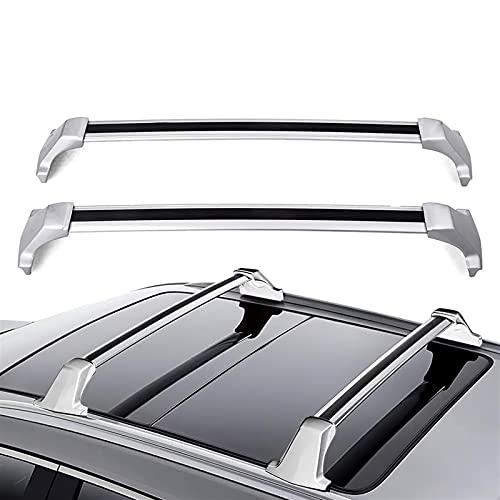 Baca Coche Universal Uso de ajuste de reemplazo de rack de techo de automóvil para Cadillac XT5 2017 2018 2019 2020 OE Style Techo de aluminio Rack Barras de cruce de barras de barra transportista Bar