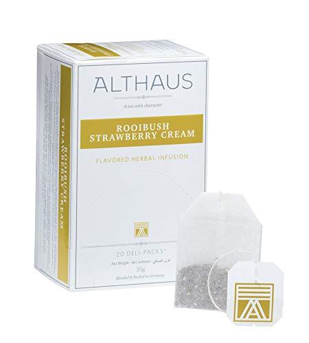 Althaus Deli Pack Rooibush Strawberry Cream 20 x 1,75g ⋅ Rooibushtee im klassischen Teeaufgussbeutel