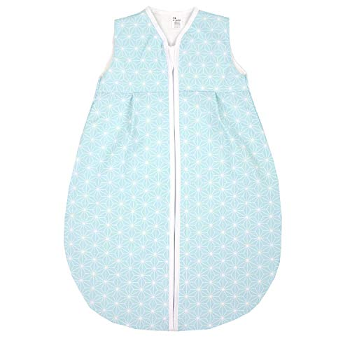 TupTam Baby Sommer Schlafsack Ärmellos Unwattiert, Farbe: Rosette Mint, Größe: 104-110