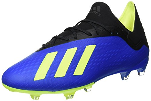 adidas Herren X 18.2 FG Fußballschuhe, Blau (Football Blue/Solar Yellow/Core Black), 42 EU