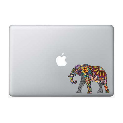 Colorful Elephant - 5 Inch - Apple Macbook Laptop Decal