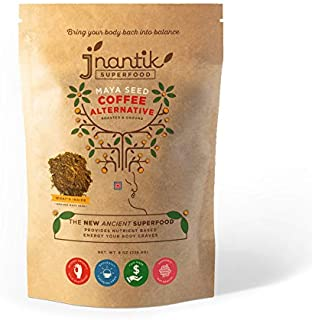 Jnantik Superfood - Organic Coffee Substitute & Alternative (8 oz) - Acid Free, Caffeine-Free, Gluten Free - Dark Roast, Maya Nut, Capomo, Mojo, Ramon, Ojoche - Delicious Morning Brew