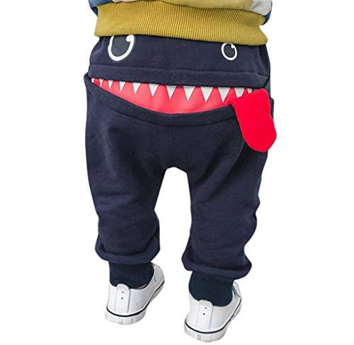 Jimmackey- Bambina Pantaloni Tuta Bianchi Bambine Tuta Felpa Divertente Squalo Pantaloni Sportivi Ragazzi Tute Inverno Velluto Caldo Pantalone Bambino Aladdin Ispessimento Bambino Pantaloni Portiere