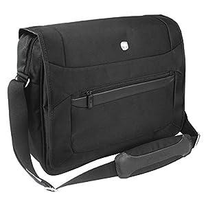 41a5w4s3SyL. SS300  - WENGER Messenger Bag - Bolso bandolera, color negro