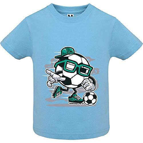 LookMyKase T-Shirt - Street Soccer - Bébé Garçon - Bleu - 6mois