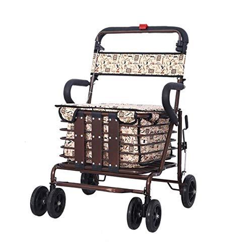 Xiaotian Roller-faltender Einkaufswagen kann Vier R&en dauern, um Nahrung zu kaufen & Hilfe kann kleine Wagen-alte tragbare Laufkatze drücken
