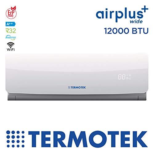 pas cher un bon TERMOTEK AIRPLUS WIDE C12 – Climatiseur 12000BTU Onduleur A ++ WIFI READY R32