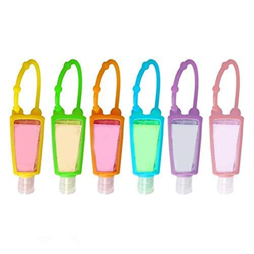 qianele - Funda de silicona para botella de jabón con diseño de dibujos animados, funda protectora a prueba de fugas, funda protectora para proteger a los niños 30 ml