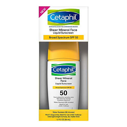 1.7-Oz Cetaphil Sheer 100% Mineral Liquid SPF 50 Sunscreen w/ Zinc Broad Spectrum $7.57 w/ S&S + Free Shipping w/ Prime or on $25+