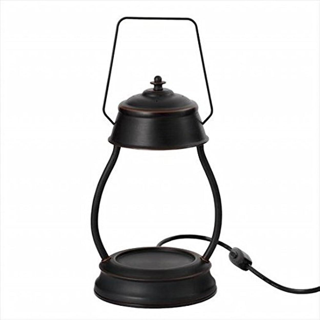 珍味電話天井kameyama candle(カメヤマキャンドル) ハリケーンキャンドルウォーマーランプ 「 ブラウン 」 キャンドル 164x155x345mm (J3570000BR)