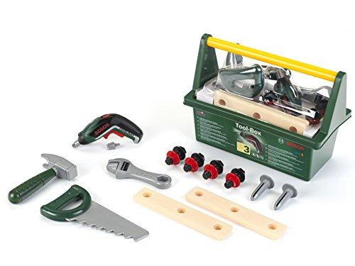 Theo Klein 8345 - Werkzeugkiste-Set Bosch mit Ixolino II-Akkuschrauber