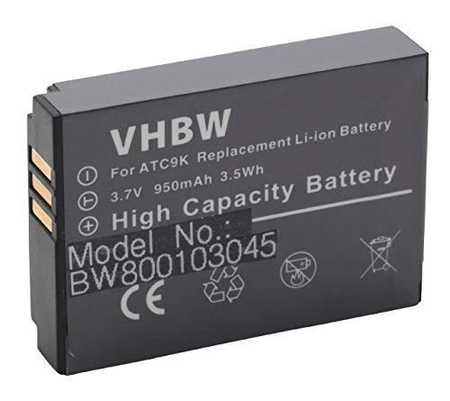 vhbw Li-Ion Batteria 950mAh (3.7V) compatibile con OREGON Scientific ATC9k Action Camera in sostituzione B-ATC9K.